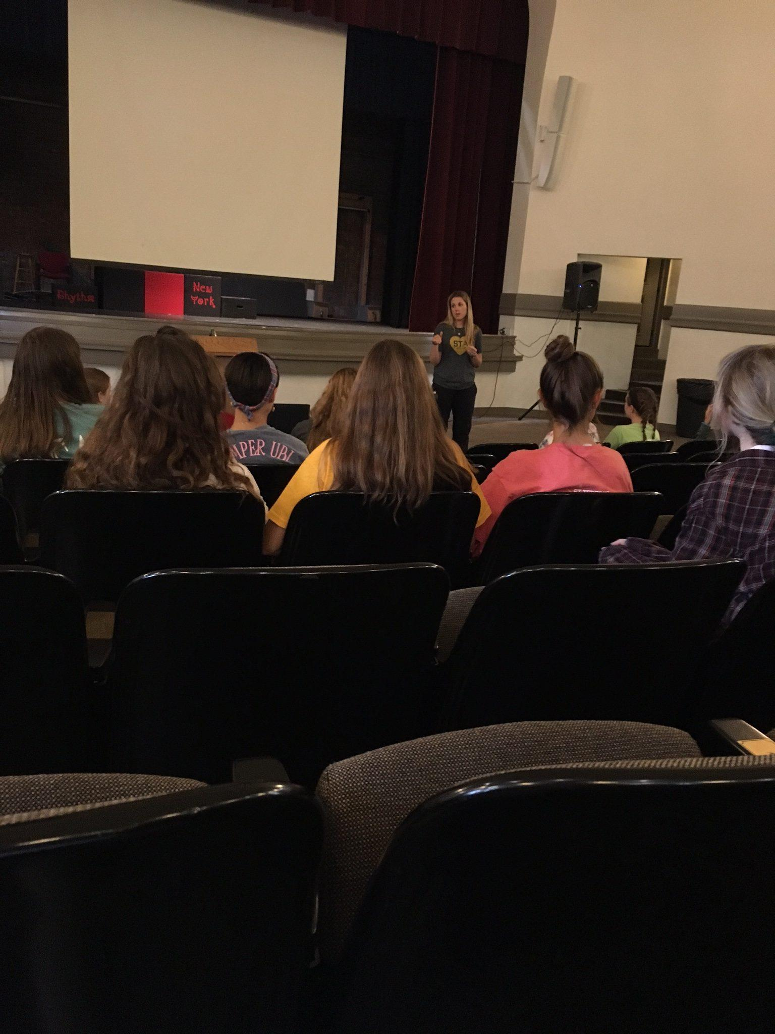 College counselor Liz Majors talks to senior members of NHS Aug. 25. photo by Margaux Renee