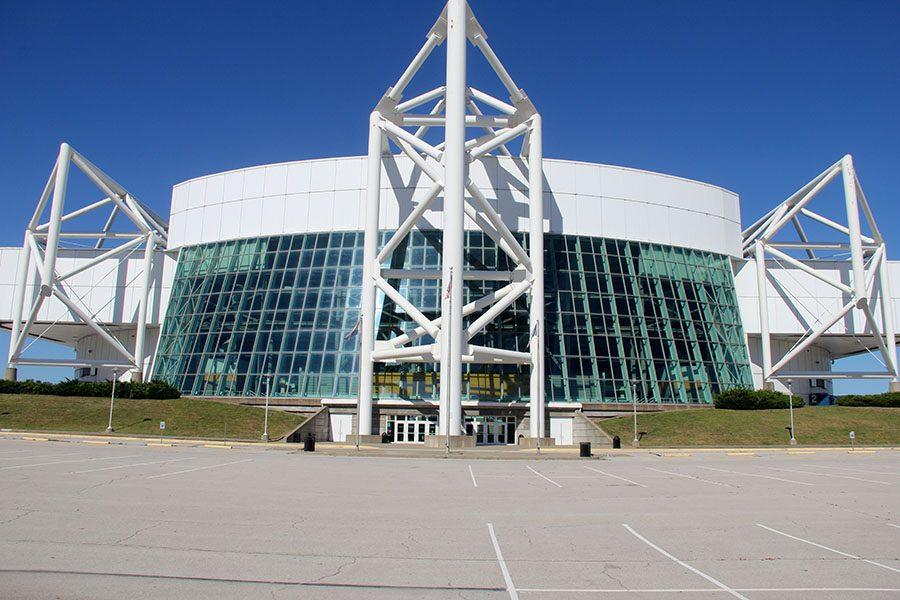 The front view of the Kemper Arena. photo by Gabby Ayala