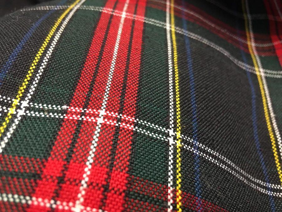The tartan plaid skirt, a key facet of the STA uniform. photo by Madi Winfield