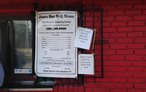 The menu of Jones BBQ, one of Kansas City's only female-owned barbecue operations. photo by Katie Gregory