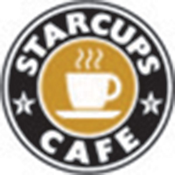 The StarCups logo