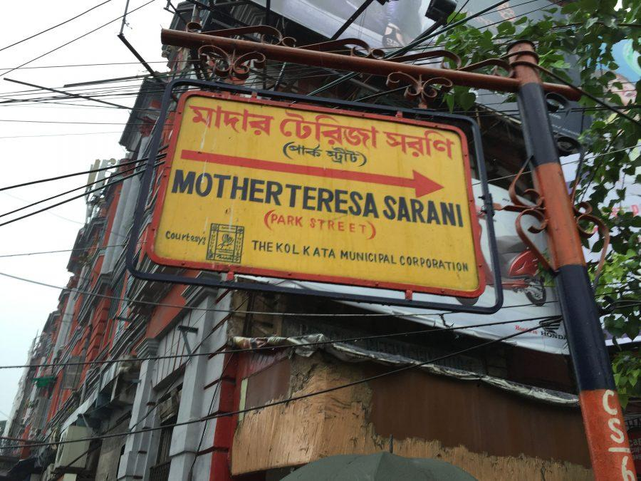 Park Street, the main commercial road in Kolkata, was renamed for Mother Teresa. photo courtesy of the Los Angeles Times