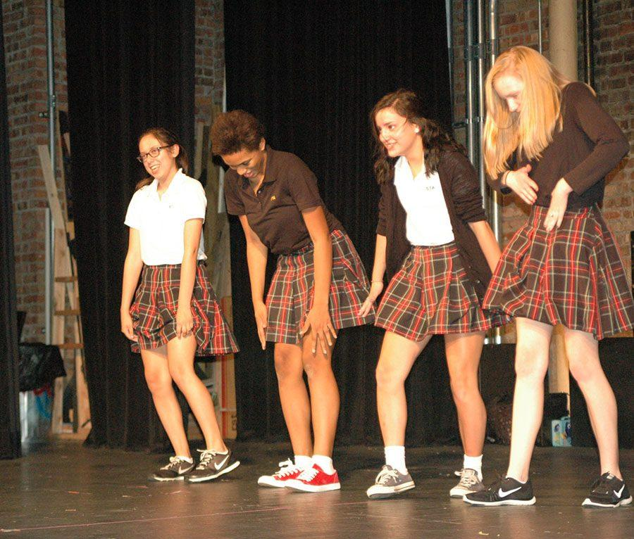 Members of Drama Club perform a dance for the club Sept 22. They performed to the song,