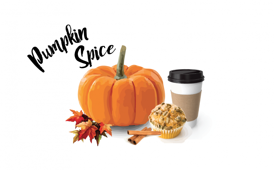 Pumpkin+spice+flavored+items+were+available+as+early+as+the+first+week+of+September+at+some+major+food+chains.+graphic+by+Mackenzie+O%27Guin