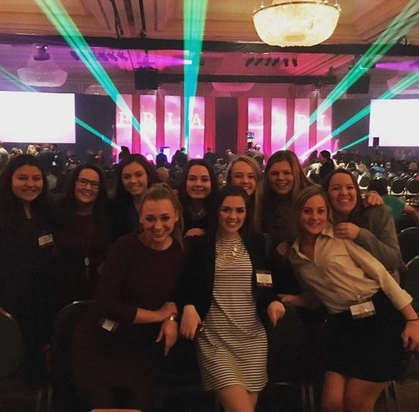 The students who traveled to Dallas for the National FBLA Fall Leadership Conference pose for a picture. photo courtesy of Taylor Staves