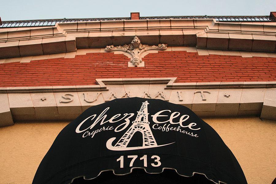 Chez Elle is a French coffeehouse and creperie located at 1713 Summit Street. Mostly popular for their crepes, Chez Elle also offers a gluten free and vegan selection. photo by Cassie Hayes