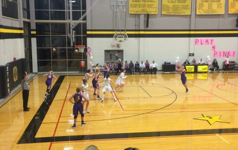 Stars set up for defense against Kearney High School. photo courtesy of Rhianna Jones