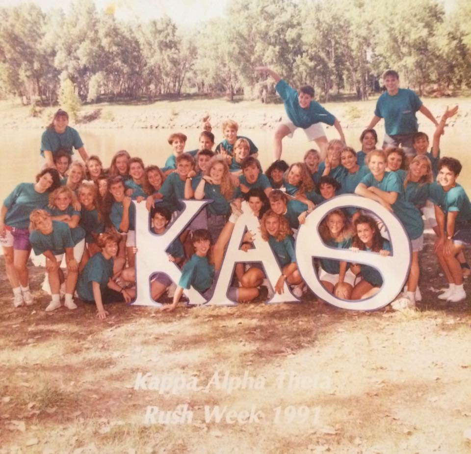 English+teacher+Jennifer+Quick+and+her+sorority+Kappa+Alpha+Theta+on+bid+day+in+1991.+photo+courtesy+of+Jennifer+Quick