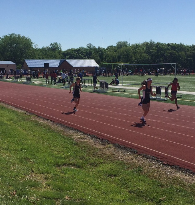 The STA track team competes at the Blue Springs High School Meet