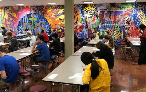 Students participate in the first math competition of the year