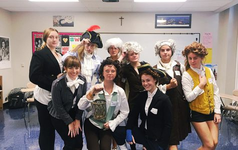 History class dresses in character
