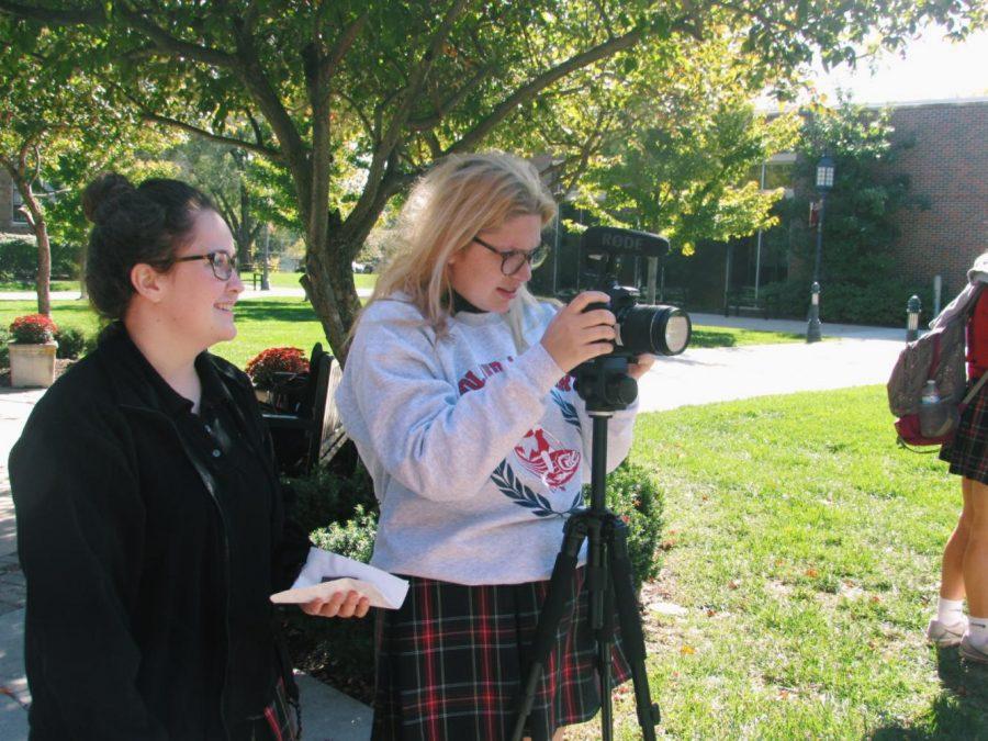 Students record #mysta video