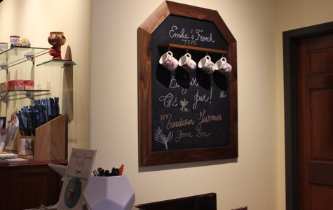 Emilie's Tea Shop is situated off the corner of Wornall and 81st Terrace Nov. 1. photo by Aspen Cherrito