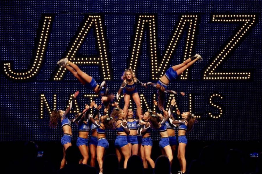 Kansas City Athletic Cheer's competitive team competes at JAMZ Nationals. photo courtesy of Gigi Mullins