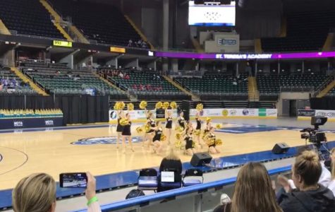 The Varsity Dance team performed at the state championship competition Feb. 24. They received second place in mix and jazz. photo courtesy of Amy Schaffer