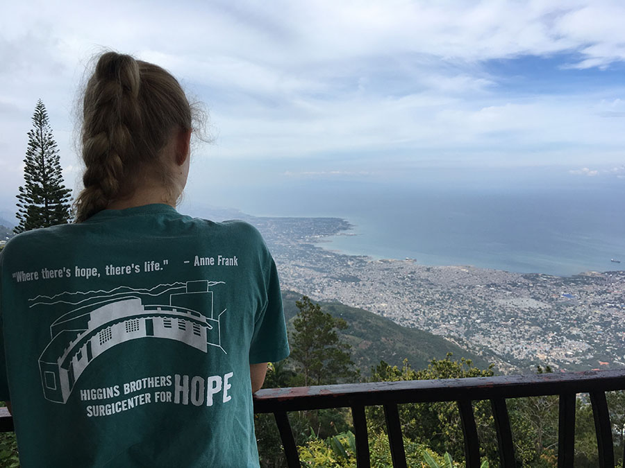 Senior Layne Stowers overlooks of the capital; Port-au-Prince, Haiti Jan. 19. Stowers was in Haiti for a medical mission trip through Phillips Presbyterian Church. photo courtesy of Layne Stowers