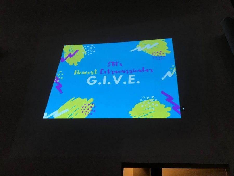 New service club G.I.V.E hosts informational meeting. G.I.V.E is a new service club, photo by Ella Norton