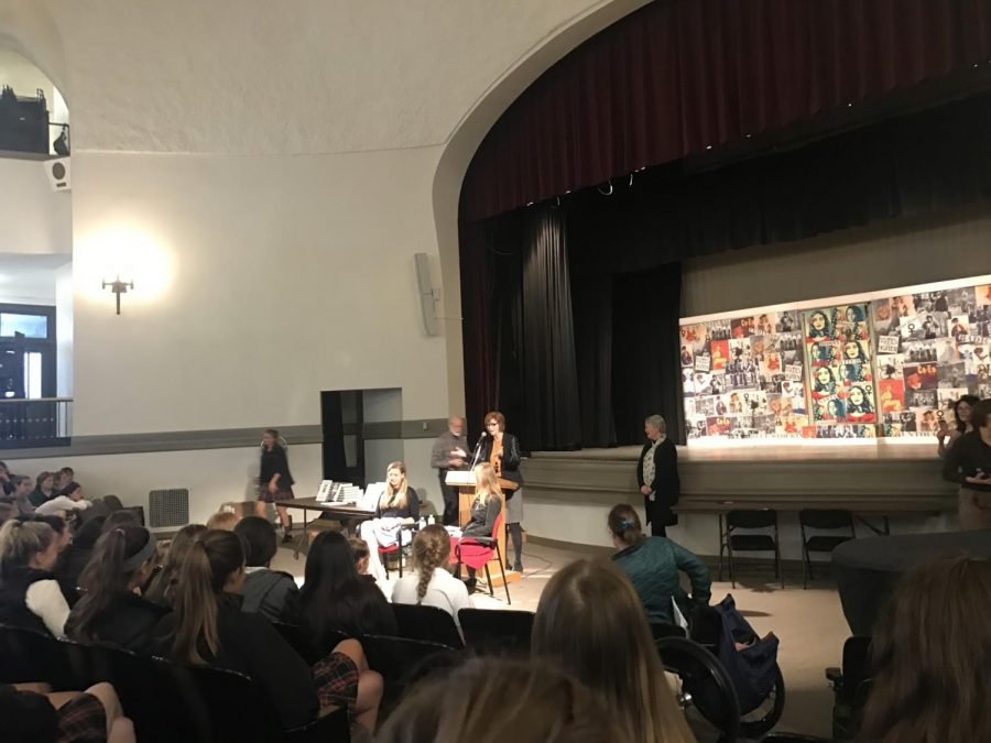 Chessy Prout, after writing a memoir about her sexual assault, visited the school to talk about sexual assault. photo by Grace Fiorella