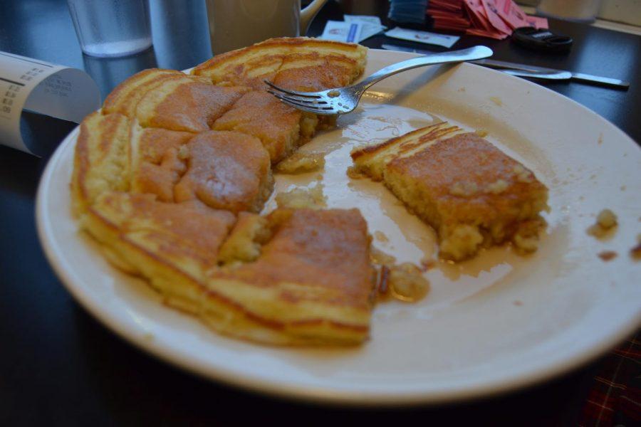 Woman vs. Food: Two 12 inch pancakes