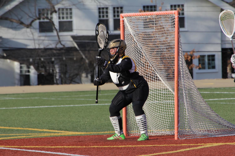 Olivia Matlock prepares to catch the ball. photo by Torri Henry