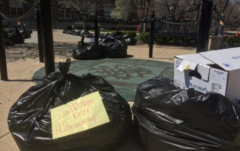 Garbage in the quad forces students to reevaluate