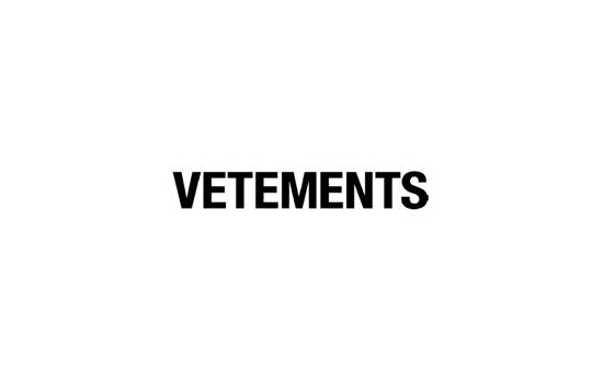 The Vetements brand logo. Photo courtesy of L'inde le Palais online shop.