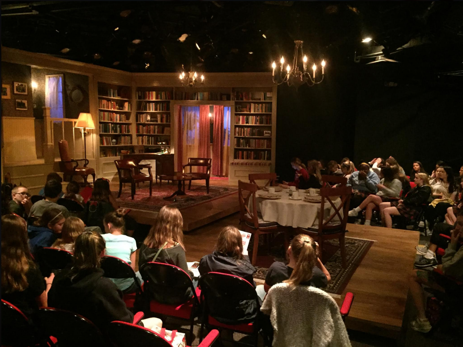 The Junior class watched Becoming Martin at the Coterie Theatre Oct. 5. photo by Anna Ronan