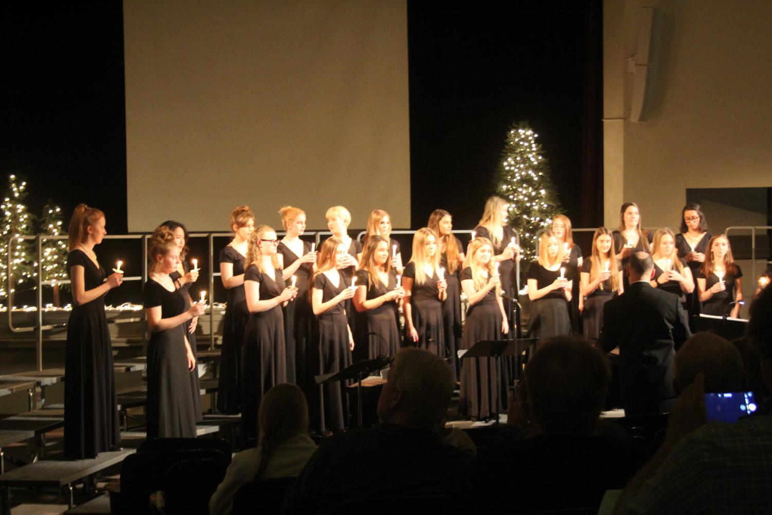 The STA choir performs in the M&A auditorium Dec. 11. photo by Beatrice Curry