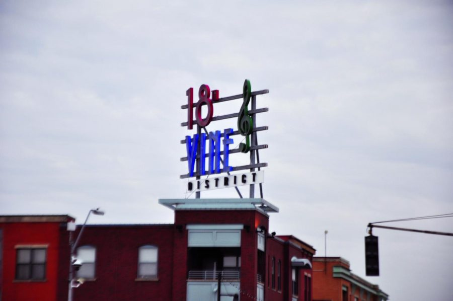 A+sign+designates+the+18th+%26+Vine+District+Mar.+7.+The+block+earned+the+name+%E2%80%9CJazz+District%E2%80%9D+when+it+became+the+center+of+jazz+music+in+the+1920s.+photo+by+Gabby+Staker