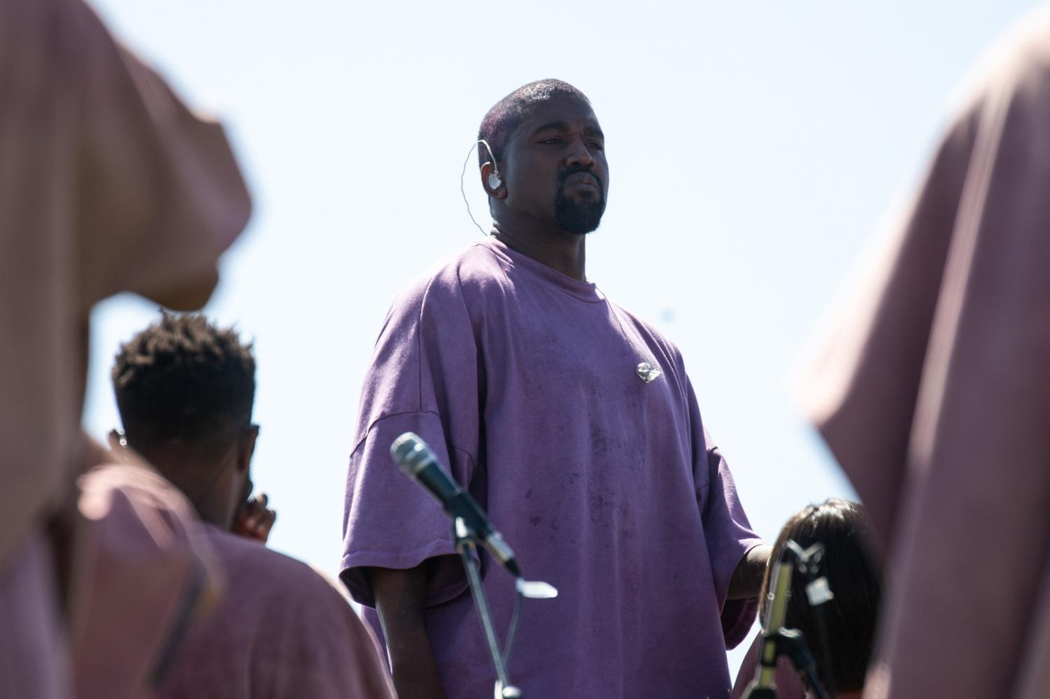 Kanye West hosting Sunday Services. Photo courtesy of Tribune News Services