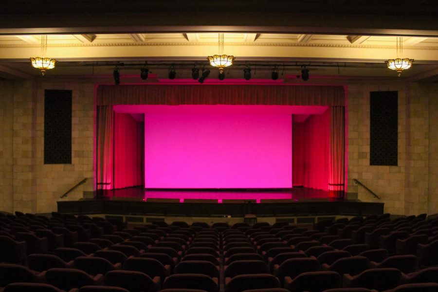 The+new+Tivoli+at+the+Nelson-Atkins+takes+over+the+museum%E2%80%99s+auditorium+as+a+screening+room.+The+theater+hopes+to+receive+new+seats+from+donors.