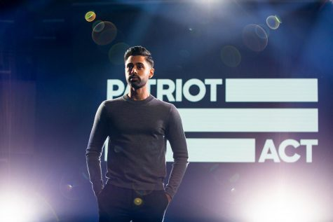 "Host, Hasan Minhaj, of the Netflix political comedy series ""Patriot Act with Hasan Minhaj,"" after wrapping up one of his first two episodes of the series: ""Affirmative Action"" from Volume 1 released Oct. 28, 2018. Since Patriot Act first aired it's won a Primetime Emmy Award, Peabody Award and more. photo courtesy of Tribune News Service"
