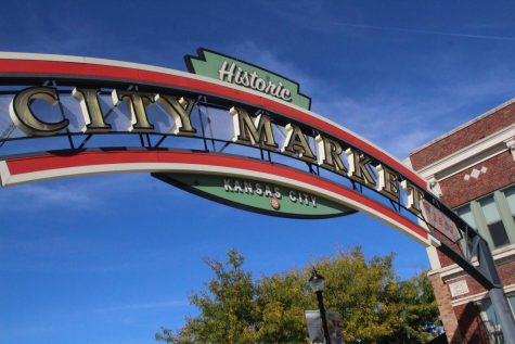 An archway marks the entrance to City Market, also known as the River Market Oct. 1. The market is home to a variety of shops, and hosts an annual weekend farmer