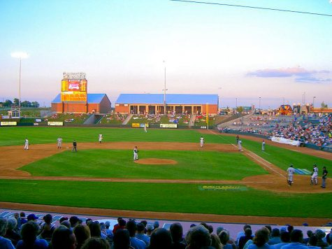 The sun sets over a T-Bones baseball game in 2004. In addition to the team changing their name, the stadium is being renovated to further perpetuate the Monarchs theme. photo courtesy of Wikimedia
