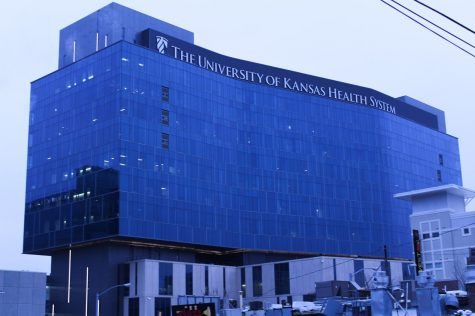 The University of Kansas Health System is the biggest hospital in the Kansas City area and it is currently caring for the most COVID-19 patients in the city as of Dec. 16. The hospital is located at 39th St. and State Line Road. photo by Rachel Robinson