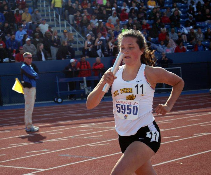 Track Team Competes at University of Kansas Relay Meet